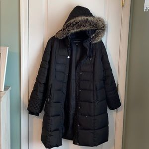 London Fog Down Coat with removable hood